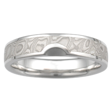 Satellite Mokume Wedding Band - top view