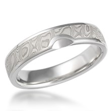 Satellite Mokume Wedding Band