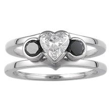 Modern Scaffolding Three Stone Engagement Ring - top view