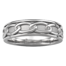 Eternal Chain Eternity Symbol Wedding Band - top view