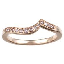 Pave Swirl Wedding Band - top view