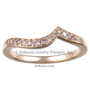 Pave Swirl Wedding Band