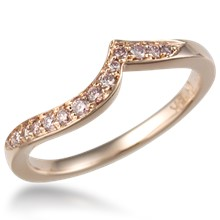 Hand Cut Pave Curved Band 0.13ctw