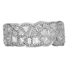 Diamond Potpourri Wedding Band - top view