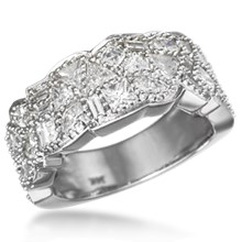 Diamond Potpourri Wedding Band