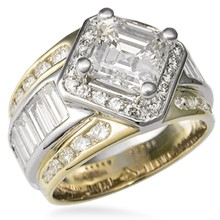 Metropolis Diamond Accented Engagement Ring