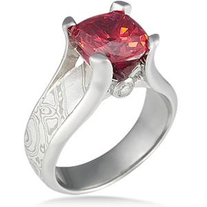Enlightened Mokume Engagement Ring