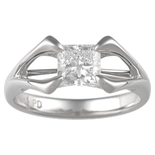 Space Princess Engagement Ring - top view