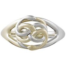 Snake Knot Ring - top view
