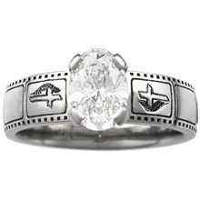 Film Strip Engagement Ring - top view