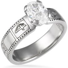 Film Strip Engagement Ring