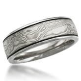 Unique Mokume Wedding Band