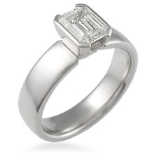 Modern Emerald Cut Engagement Ring