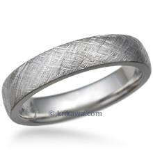 Crosshatched Wedding Band