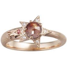 Shooting Star Light Engagement Ring - top view