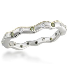 Curvy Diamond Wedding Band