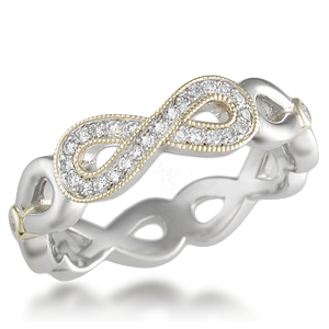 Womens Diamond Infinity Symbol Wedding Rings Krikawa