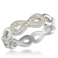 Pave Infinity Wedding Band