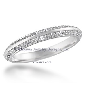 Juicy Double Diamond Wedding Band
