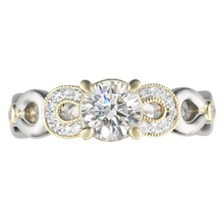 Pave Infinity Engagement Ring - top view