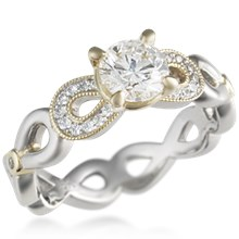 Pave Infinity Engagement Ring