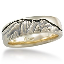 Mountain Wedding Band