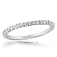 Scalloped Bead Set Diamond Wedding Band