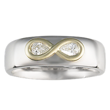 Infinity Overlay Wedding Band - top view