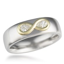 Infinity Diamond Symbol Wedding Band