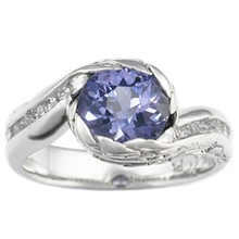 Wings of Love Engagement Ring - top view