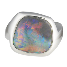 Opal Cocktail Ring - top view