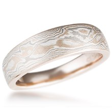 Tapered Mokume Wedding Band
