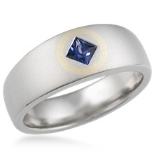 Square in Circle Wedding Band