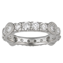 Diamond Castle Wedding Band - top view