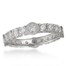 Diamond Castle Wedding Band