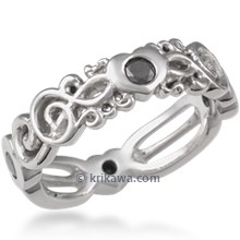 Harmony Treble Clef Wedding Band