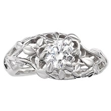 Goddess Wreath Engagement Ring - top view