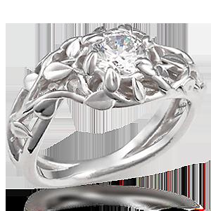 Goddess Wreath Engagement Ring