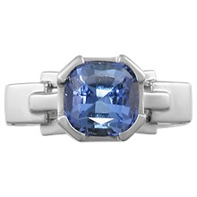 Falling Water Engagement Ring - top view