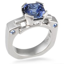 Falling Water Engagement Ring