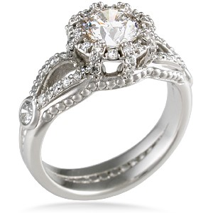 micro pave crown engagement ring - Crown Wedding Ring