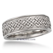 Tibetan Knot Eternity Wedding Band