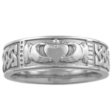 Claddagh Wedding Band - top view