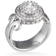 Modern Queen of One Engagement Ring
