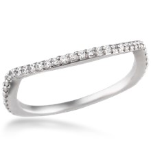 Scalloped Bead Curved Wedding Band 0.20ctw