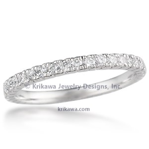 Mermaid Bead Set Diamond Wedding Band