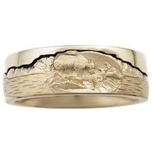 Bear Wedding Band - top view