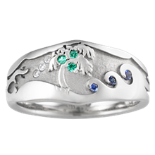 Beach Wedding Ring 1 - top view