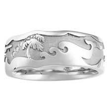 Beach Wedding Band 2 - top view
