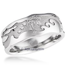 Palm Tree Beach Wedding Band 2